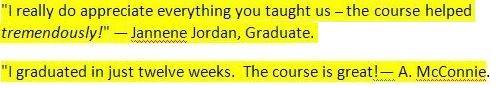 Graduates comments
